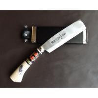 本場土佐の鉈(片刃)5.5寸(165mm)鉈の幅細身 ナタはかじ職人による手打ちの一級品(職人により...