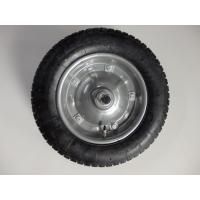 スチールホイール付き一輪車交換用タイヤです。  取り付け方法指導いたします。締め過ぎるとタイヤが回り...