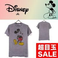 ディズニーでお馴染みのミッキーマウス Tシャツ   【素材】 コットン 50% ポリエステル 50%...