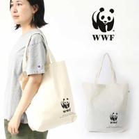 自然保護団体WWFのパンダマーク入りリサイクルエコバッグ  【あすつく対応】【ネコポス可】  WWF...