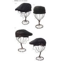 【CH-0696/ハンチング/帽子/サイズ約58cm】サイドツイルサテンケーブルハンチングサイドにベルトのアジャスターがついているのでサイズ調整も可能/CAP・HAT・メ