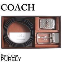 コーチ COACH レザー ベルト 専用BOX付き ギフト セット  ■サイズ ロゴのバックル:W約...