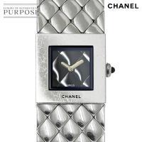 シャネル CHANEL マトラッセ レディース 腕時計 H0009 ブラック 黒 文字盤 クォーツ ...