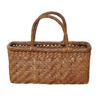 ●自然の恵み やまぶどうバッグ●山葡萄小籠 網代編(削皮) bag-0407