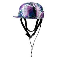 帽子を畳みスナップボタン留めの日よけに収納することで携帯が可能なサーフキャップです。チンベルトやコー...