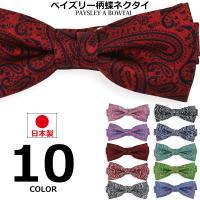 日本製 ペイズリー柄 蝶ネクタイ ネクタイ
