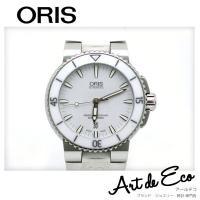 ブランド/ オリス ORIS 商品名/ アクイス デイト 白 ラバーベルト AT 型番/ 7653 ...