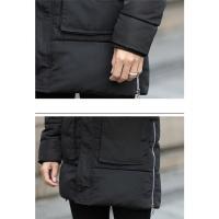 中綿コート メンズ ロング丈 スリム ダウン風ジャケット 秋冬新作 フード付き ファッション アウター おしゃれ