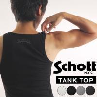 MAX99%OFFクリアランスセール Schott ショット リブタンクトップ メンズ トップス イ...