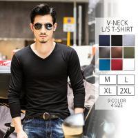 ■■ 商品説明 ■■ 全10色 色で遊べるスタンダードなVネックロングスリーブTシャツ シンプルに1...