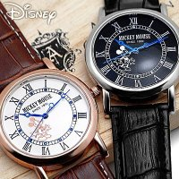 【アウトレット】【ゆうパケ配送送料無料】 Disney ディズニー ノーブルミッキー腕時計 本牛革ベ...