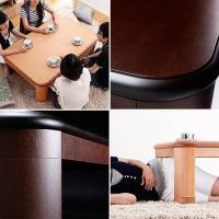 こたつ 炬燵 コタツ フロアテーブル リビングテーブル 楢 ラウンド 折れ脚 リラ 120×80cm 長方形 折りたたみ こたつテーブル