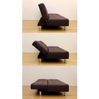 ソファベッド 簡易ベッド セミダブル レザーシート コンパクト OPERA ブラック|rakusouya|03