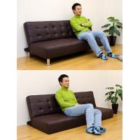ソファベッド 簡易ベッド セミダブル レザーシート コンパクト OPERA ブラック|rakusouya|05