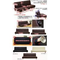 ソファベッド 簡易ベッド セミダブル レザーシート コンパクト OPERA ブラック|rakusouya|06