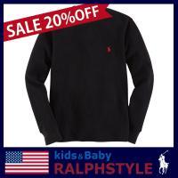 フードパーカやセーターとの重ね着に最適なワッフルニットの長袖Tシャツです。 シンプルだけどクラシック...