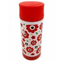 【花柄 ステンレスボトル】 マグ ボトル 保冷 保温 350ml  ・花柄模様がとってもかわいい、ス...