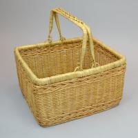 ラタンバスケット 持ち手 二本手 ピクニック かごバッグ