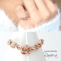 無料カラー変更可能 ピンキーリング ピンクゴールド 華奢 指輪 薔薇 ローズ 1〜17号 セミオーダー