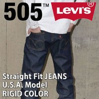 LEVI'S 505 ORIGINAL STRAIGHT FIT RIGID NON-WASH 50...