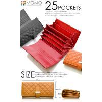 モモ MOMO アコーディオン型 レディース 長財布 AN-269-OR オレンジ