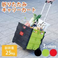 【内容】 ●重たい荷物もラクラク運べる折りたためるキャリーカート ●ゴミだし、買い物、レジャーカート...