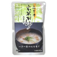 福井の禅寺に受け継がれた朝がゆを手軽に楽しめる、レトルトタイプのお粥。福井産コシヒカリ玄米に、大豆を...