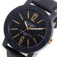 ブルガリ BVLGARI 自動巻き メンズ 時計 ウォッチ ブランド ファッション ブラック ブルガ...