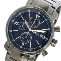 フォッシル FOSSIL クロノグラフ クオーツ メンズ 腕時計 ウォッチ ダークブルー  サイズ ...