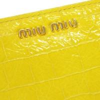 ミュウミュウ miumiu 長財布 長札 stampa cocco lux 5m0506 giallo yl