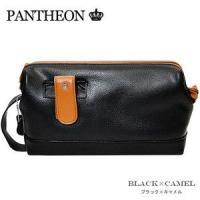 パンティオン PANTHEON セカンドバッグ 072149-BKCA ブラック×キャメル
