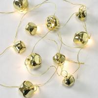 クリスマス LEDメタルガーランド ベル ゴールド 代引不可