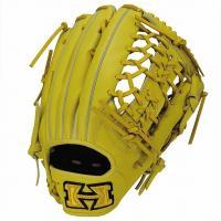ハイゴールド Hi-Gold KKG-7518 軟式グラブ 心極シリーズ 外野手用 LH Nイエロー 野球用品