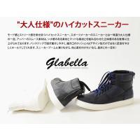 【送料無料!!】ハイカットスニーカー PUレザー /メンズ glabella グラベラ スニーカー 靴 シューズ ダンス ストリート