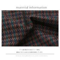 スカート【特別価格】(750-86013)CLOCHE 日本製 チェック・千鳥柄ツイードスカート▼