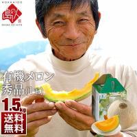 ■完全無農薬 坂本正男のメロン(秀品)×1玉 (品種ルピアレッド)1.5kg前後 ※自然のものですの...