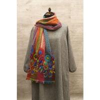 ウール刺繍ストール 3315A