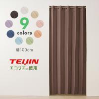 間仕切りカーテン 断熱 フリーカット 幅100cm テイジン エコリエ使用 パタパタ 遮熱 保温 遮像 UVカット つっぱり式 カーテン のれん