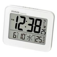 ノア精密 MAG マグ 電波目覚まし時計 コードロン T-761WH-Z 電波時計 置き時計 デジタル カレンダー 温度 シンプル 時計 時間