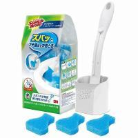 洗剤付のトイレクリーナーでお掃除らくらく!  フチ裏にフィットする特殊形状スポンジ。  ゴシゴシ力を...