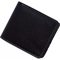 ヌメ革 二つ折財布 ブラック OJ-1502 m,i,u,o.j 代引不可