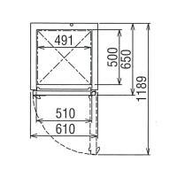 新品:フクシマ 業務用冷凍庫 縦型 URN-062FM6 幅610×奥行650×高さ1950(mm)|recyclemart|03