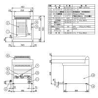 新品:フライヤー:マルゼン ガスフライヤー MGF-12TJ 卓上型|recyclemart|02