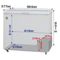 新品:冷凍庫:レマコム 冷凍ストッカー RRS-203NF|recyclemart|03
