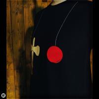 ロンT/メンズ/レディース/長袖/Tシャツ : kendama : ブラック