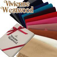 マフラー レディース/メンズ/ブランド Vivienne Westwood ヴィヴィアン ウエストウッド マフラー 81030007 ヴィヴィアンマフラー ワンポイント 無地