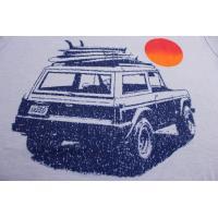 """カリフォルニア グッド ライフ CALIFORNIA GOOD LIFE / """"JEEP"""" 半袖 Tシャツ (カラー / ブルー)  MADE IN U.S.A.             [メール便発送対応 200円]"""