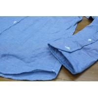 New England Shirts Company (ニューイングランドシャツカンパニー) / 別注EXトリムフィット シャンブレー B.D シャツ 長袖 (BLUE)