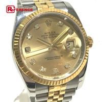 【商品名】ロレックス デイトジャスト 10Pダイヤ メンズ腕時計 【型番/シリアル】116233G/...