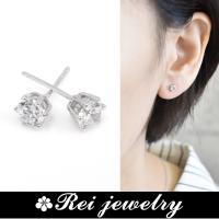 Diamond simple pierce  シンプルを極めた定番デザイン。耳元できらきら輝くダイヤ...